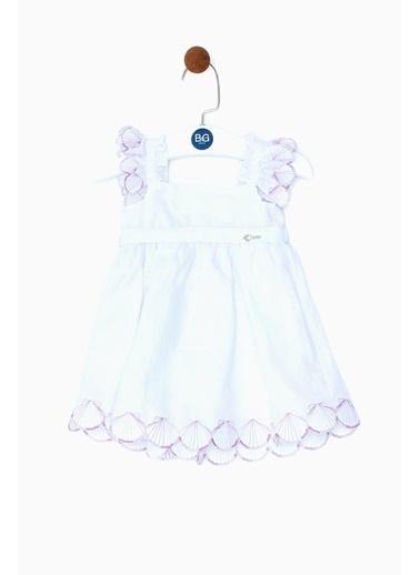 BG Baby Kız Bebek Beyaz Elbise 19SS0BG2901 Beyaz